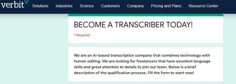 transcription jobs online from home
