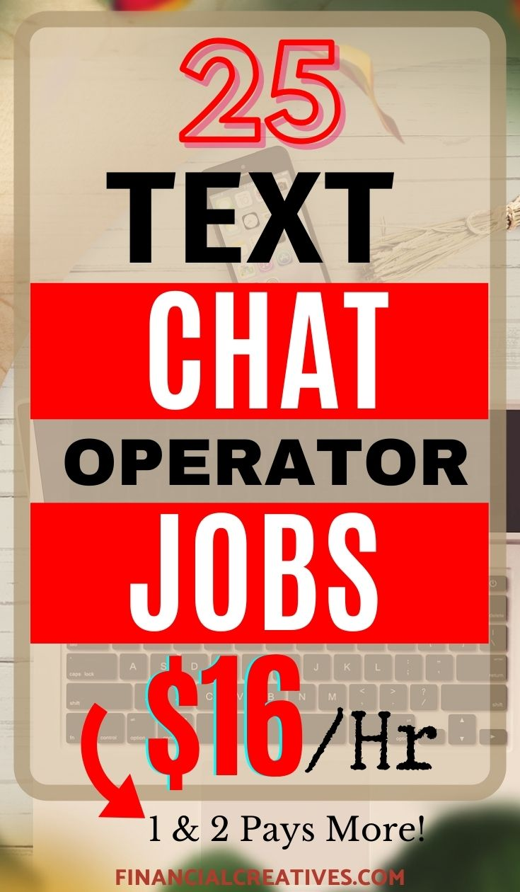 high paying Text Chat Operator Jobs from Home
