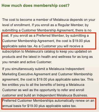 cost to join melalueca